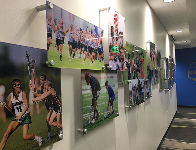 US Lacrosse mural collage